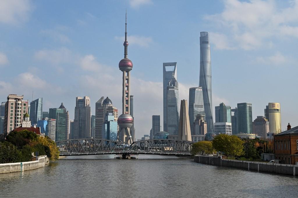 «Le monde est définitivement devenu multipolaire, compte tenu notamment de l'essor phénoménal de la Chine.» Sur cette photo, l'horizon urbain de Shanghai (AFP)