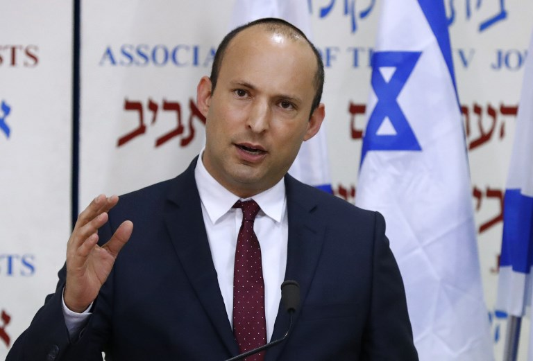 Israeli Education Minister Naftali Bennett is pictured in Tel Aviv on 29 December (AFP)