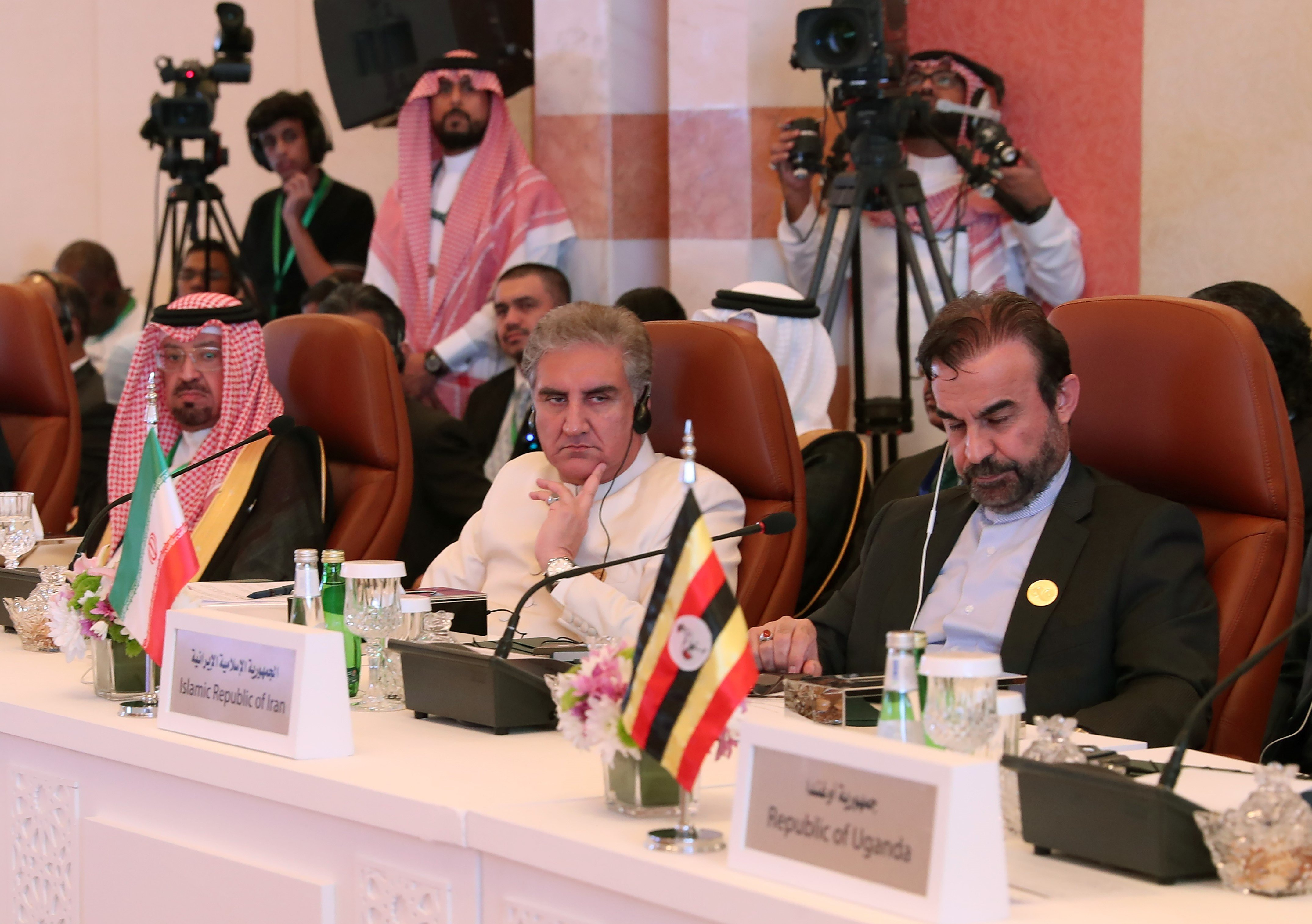 Iranian Director General of the Department of International Peace and Security Affairs Reza Najafi during a meeting of Islamic and Arab Foreign Ministers in Jeddah on 30 May (AFP)
