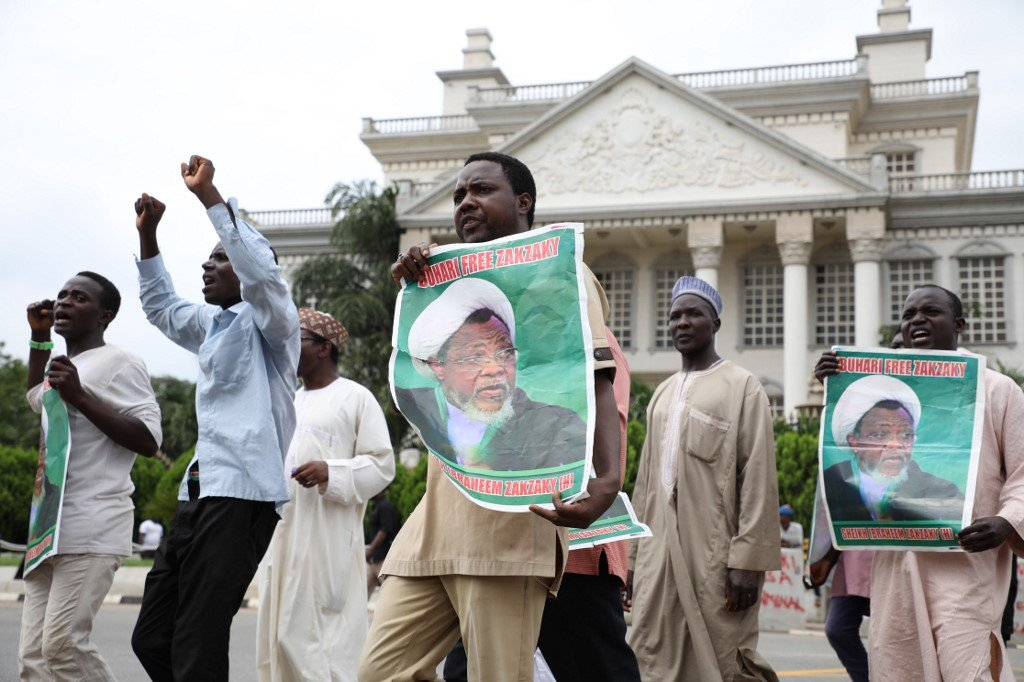 Zakzaky's supporters have faced violence from state forces as they continue to demand his release(AFP)