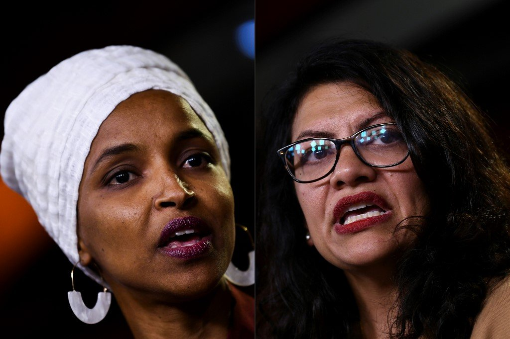 Ilhan Omar (L) and Rashida Tlaib (R) were both barred from entering Israel and the Occupied Palestinian Territories (AFP)