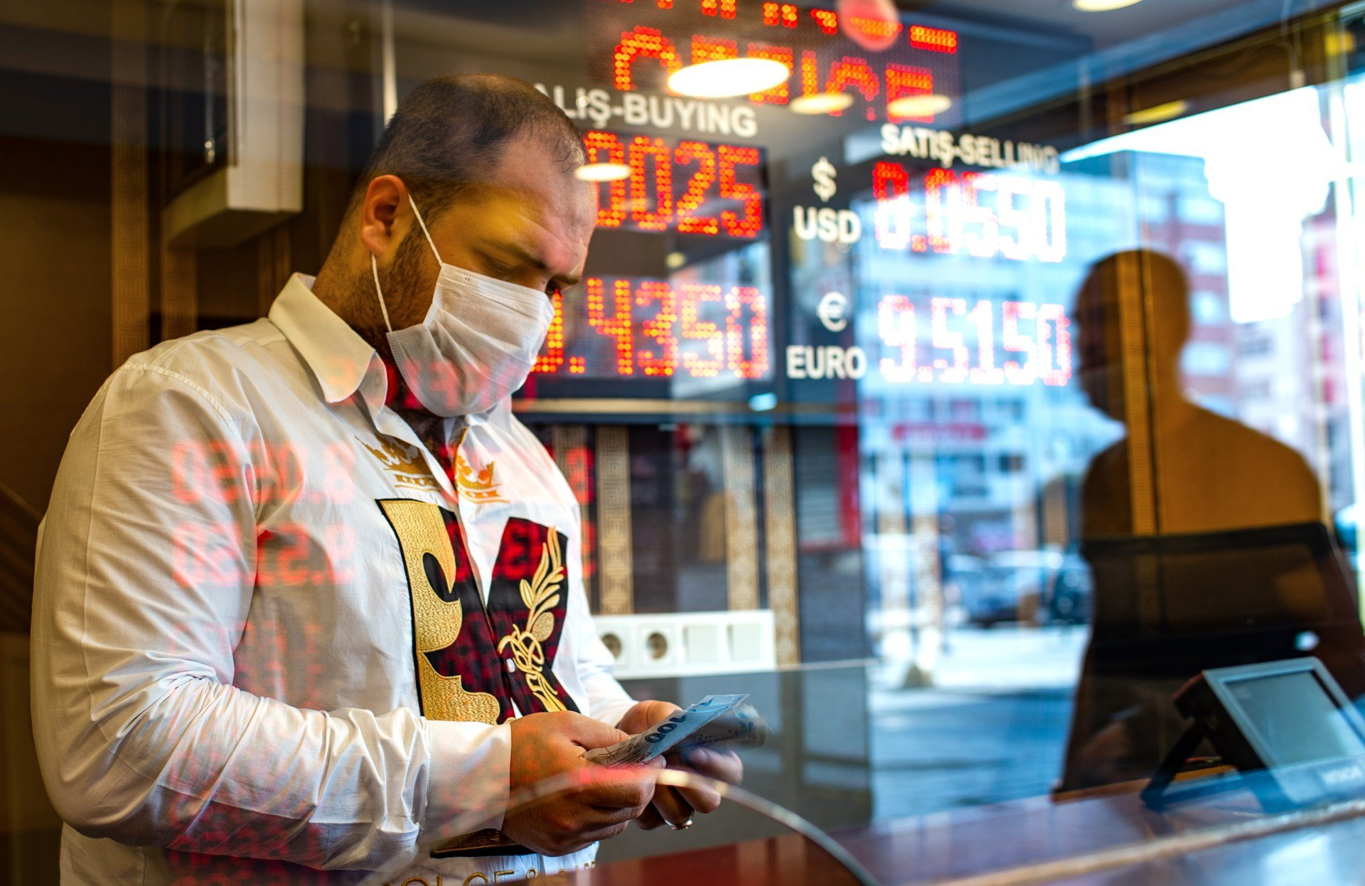 The coronavirus pandemic prompted the Turkish lira to hit new lows (AFP)