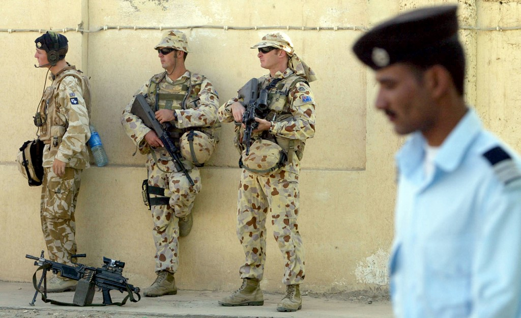 Australian soldiers are pictured in southern Iraq in 2006 (AFP)