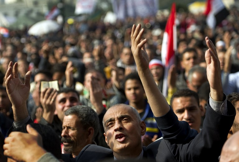 Egyptians protest in Cairo's Tahrir Square in November 2011 (AFP)