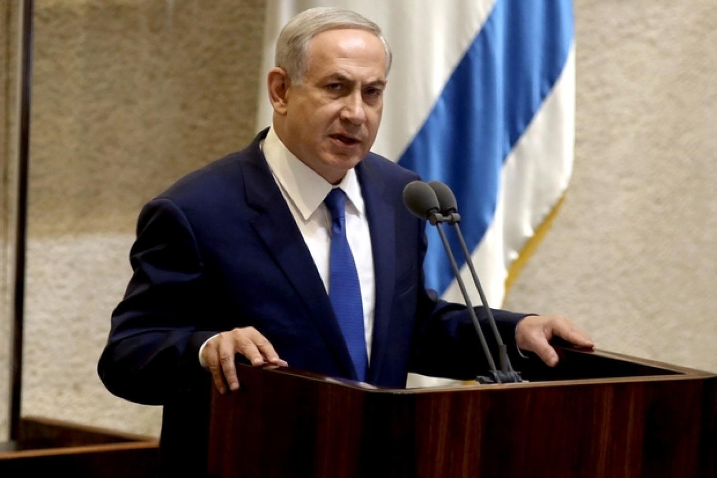 Le Premier ministre israélien Benyamin Netanyahou prononce un discours à la Knesset, en octobre 2015 (AFP)