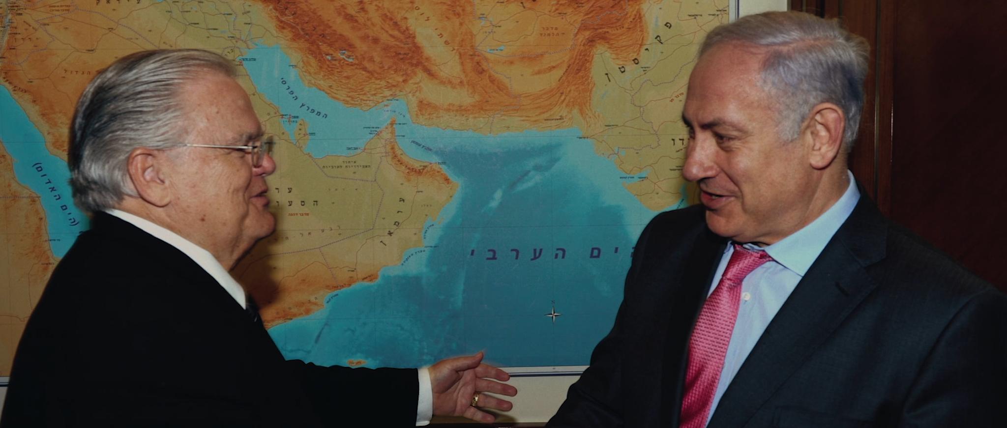 Pastor John Hagee from Christians United for Israel and Israeli PM Benjamin Netanyahu [Til Kingdom Come]