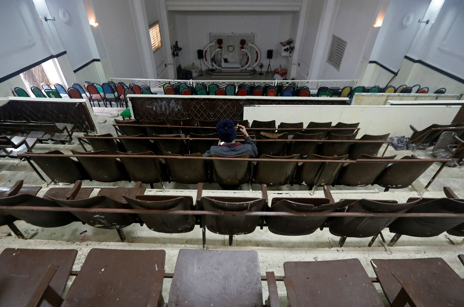 The cinema, one of the first in the West Bank, was originally opened by Abdel-Rahim Hanoun's father in 1965. Two years later Israel took control of the area during the 1967 Arab-Israeli war. (Reuters)