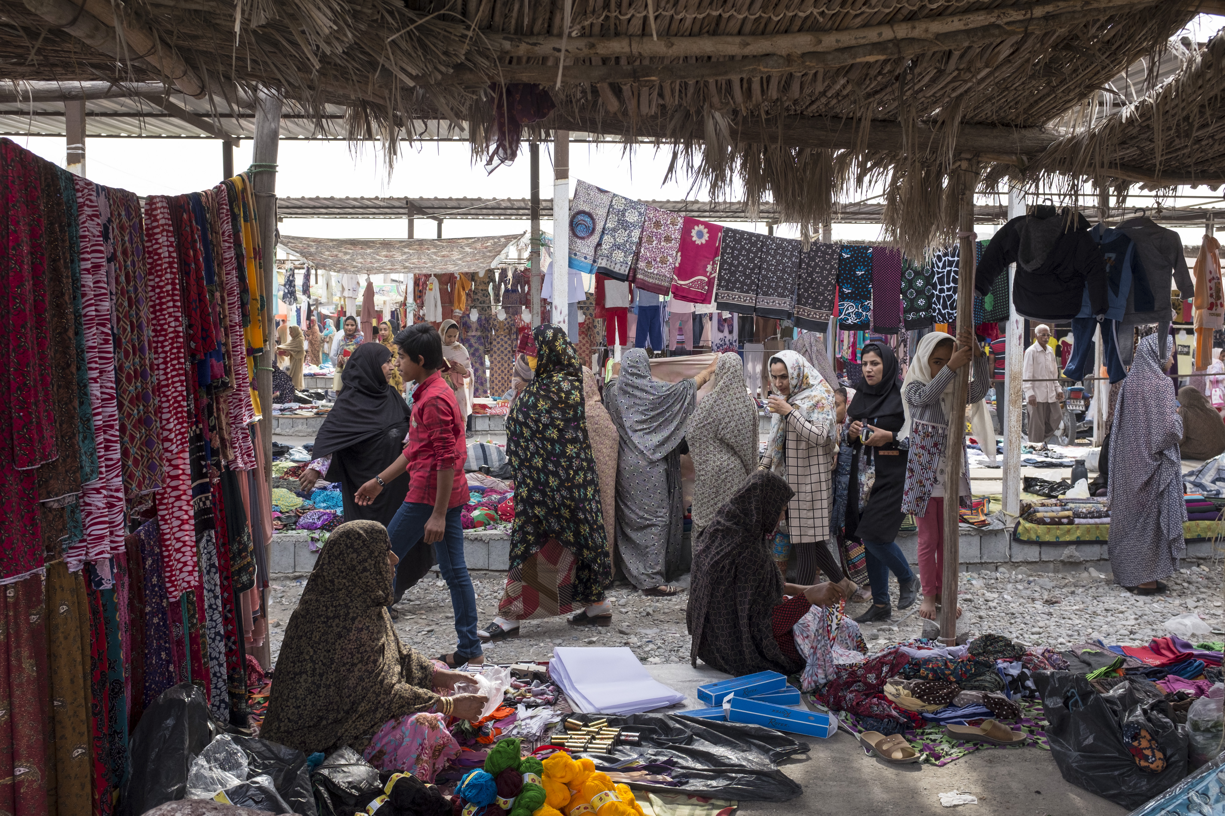 The Panjshambe bazaar is also where women can buy and sell masks. The majority there are masked as they conduct their business without male escorts (MEE)