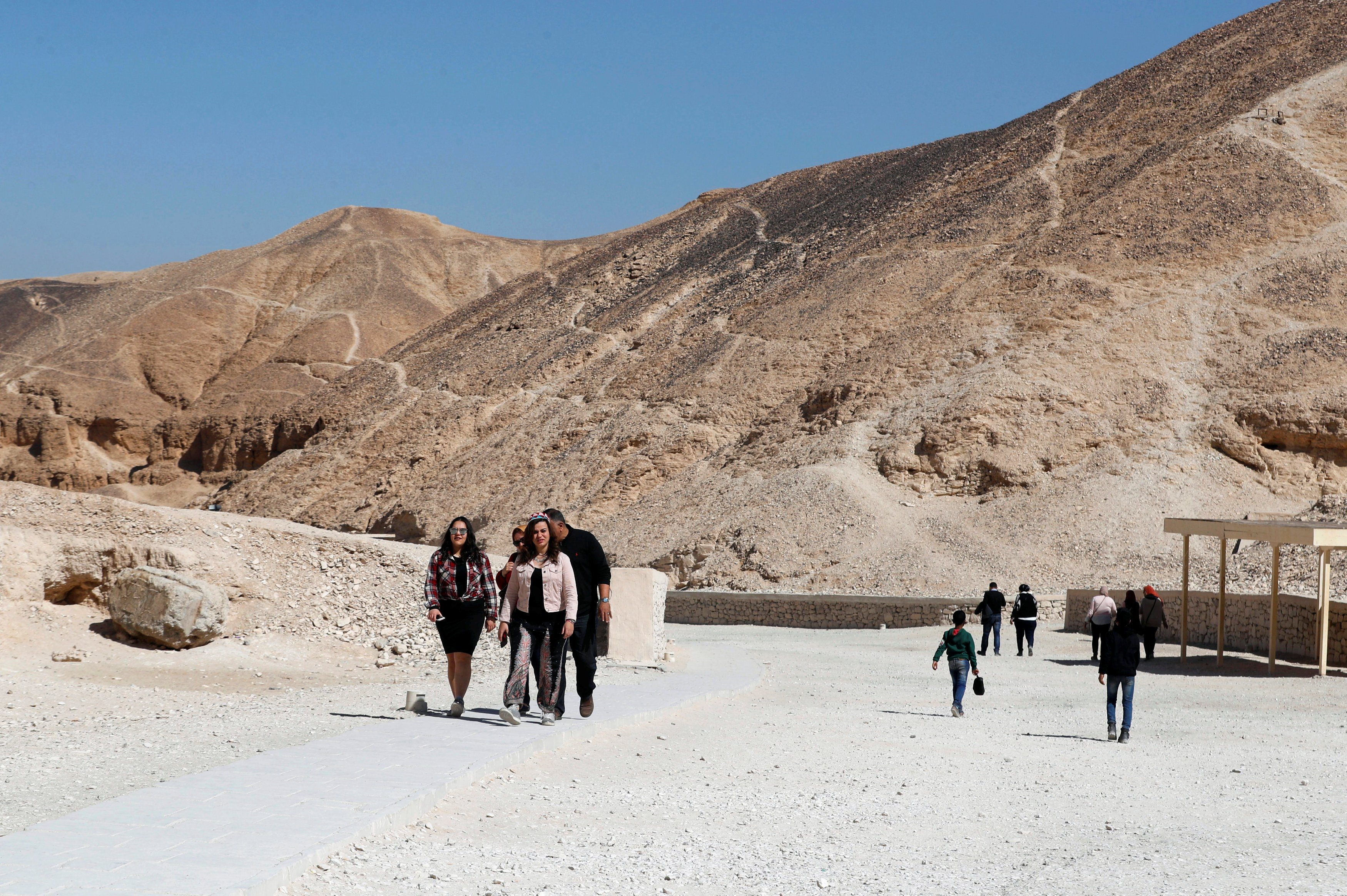 The tomb is located in the Valley of The Kings in Luxor, on the west bank of the Nile and around 200 miles upriver from Cairo. The first tombs date back to around 1600 BC: female consorts were usually buried nearby in the Valley of the Queens (Reuters).