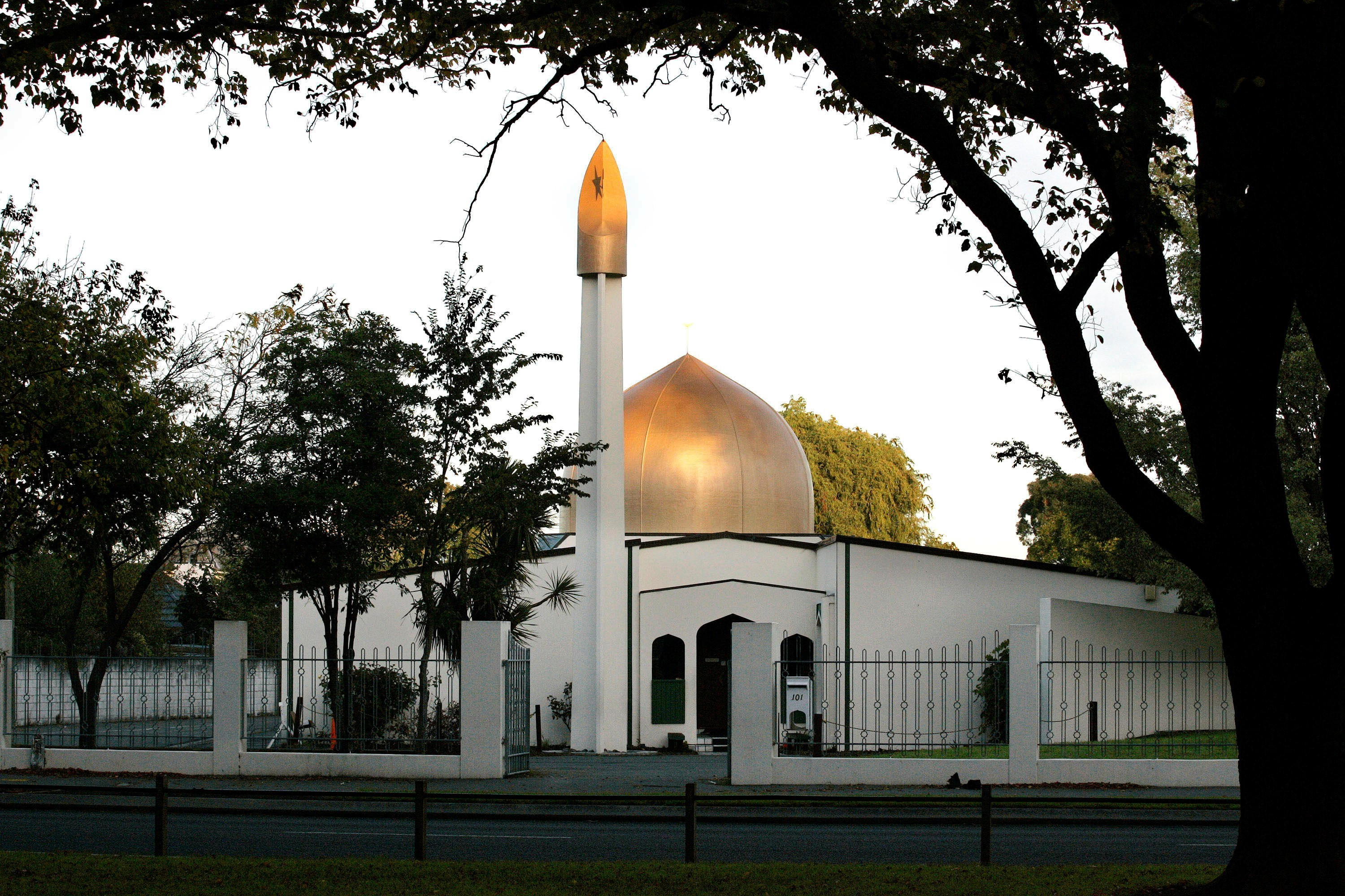 Al-Noor Mosque in Christchurch, New Zealand, is pictured in 2014 (Reuters)