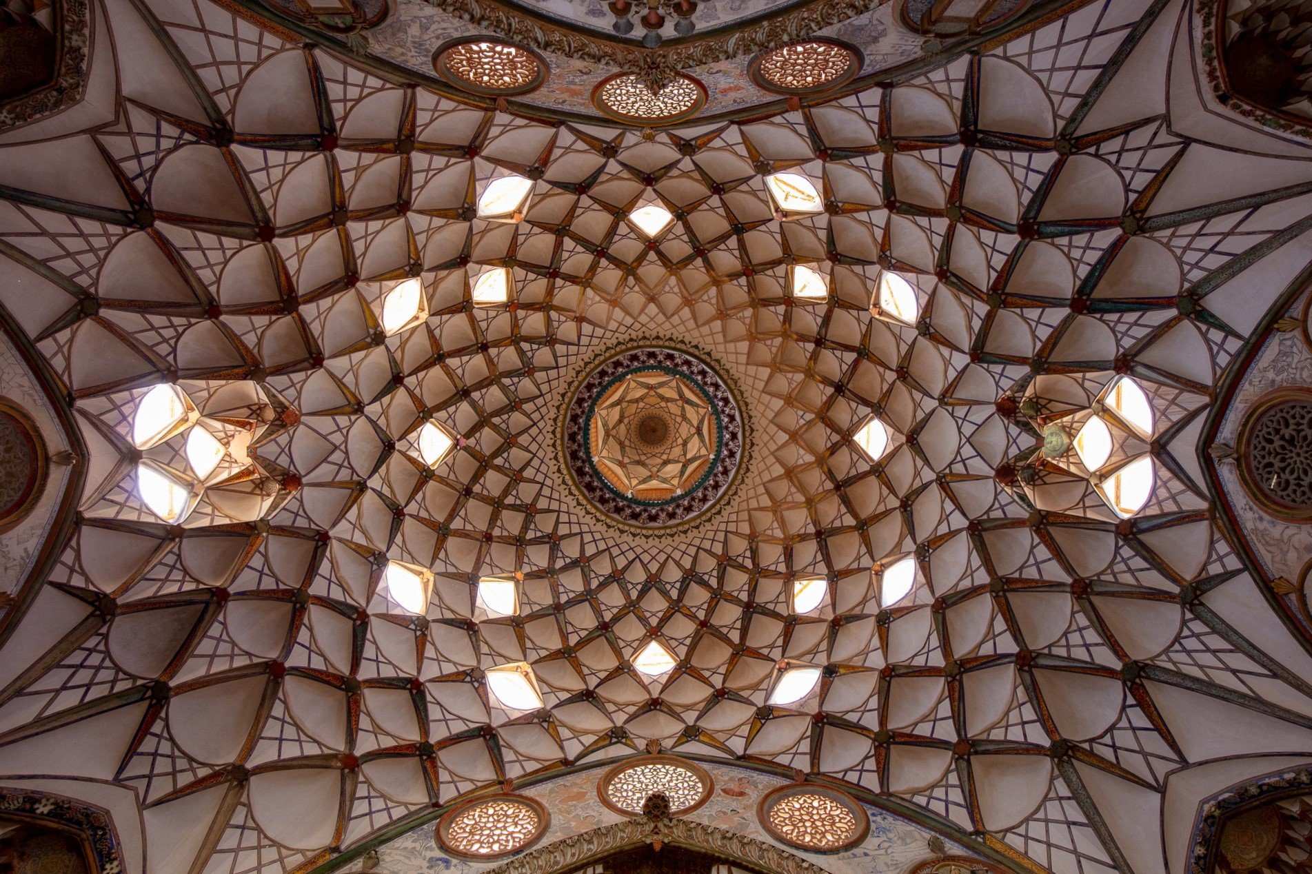 dome of Borujerdi House in Kashan