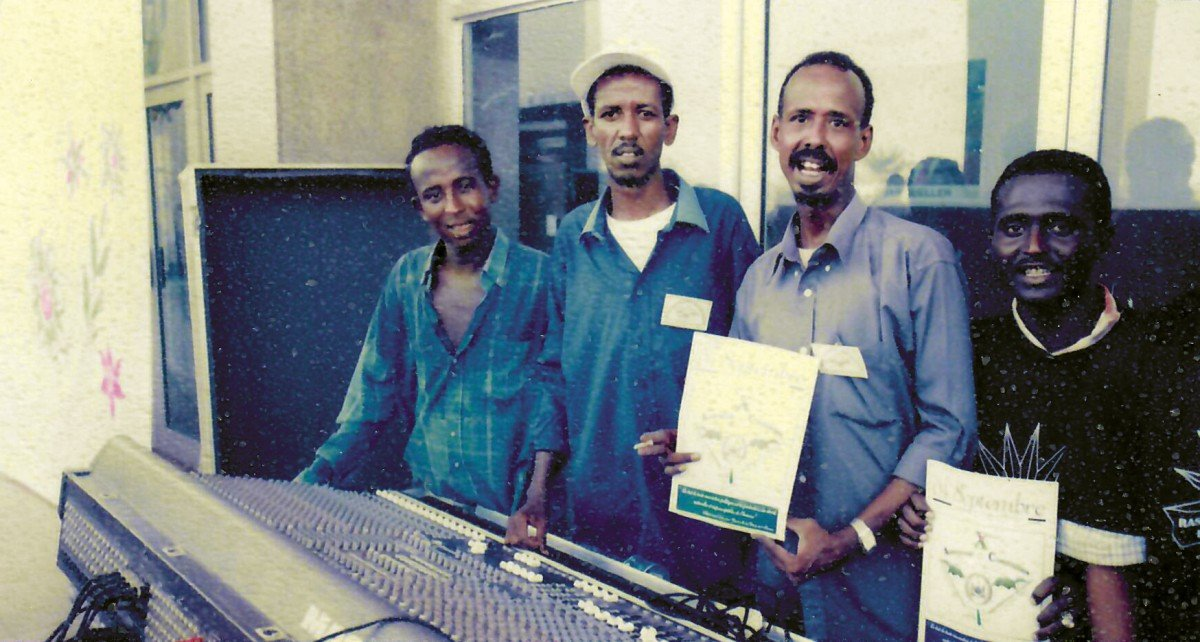 Mixing engineers and members of the crew of 4 Mars (Radiodiffusion Television de Djibouti)