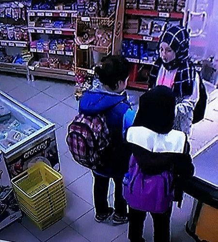 CCTV footage shows Rabia Naz, left, in a local shop on the day of her death (Sabah)