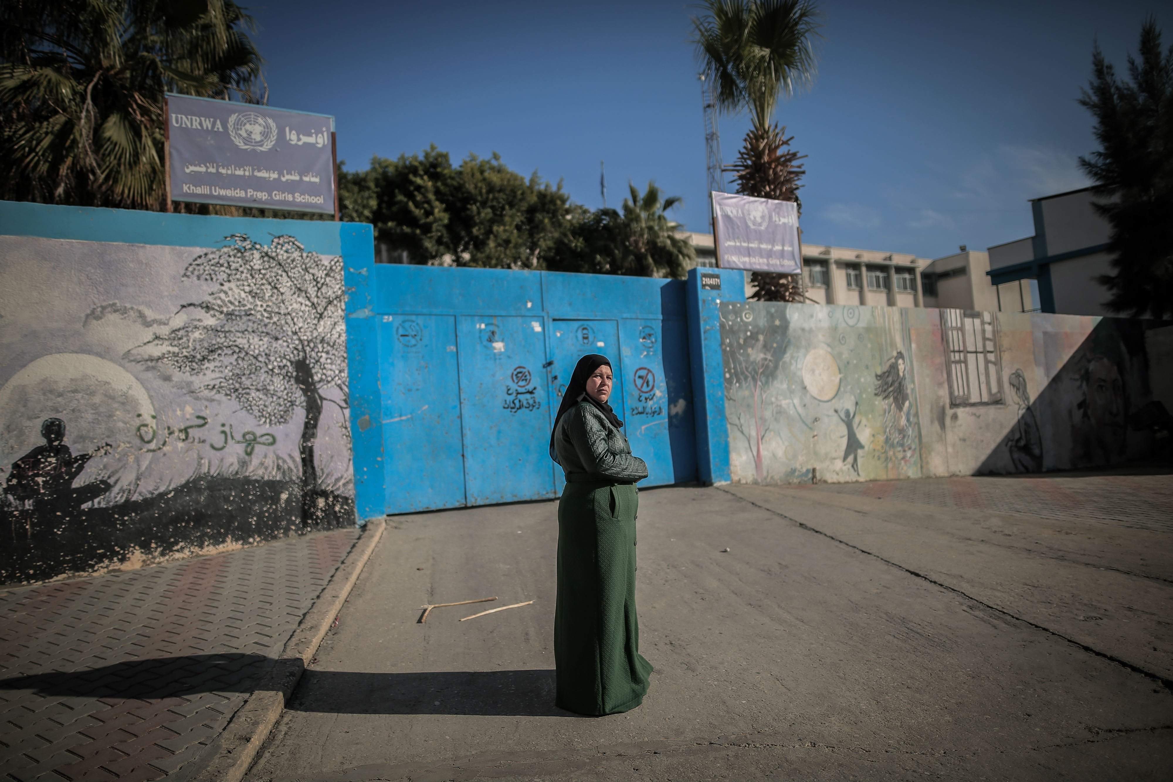 Um Afaf Hijazi was wounded when Israel struck the UNRWA girls school she was sheltering in (MEE/Sanad Latifa)