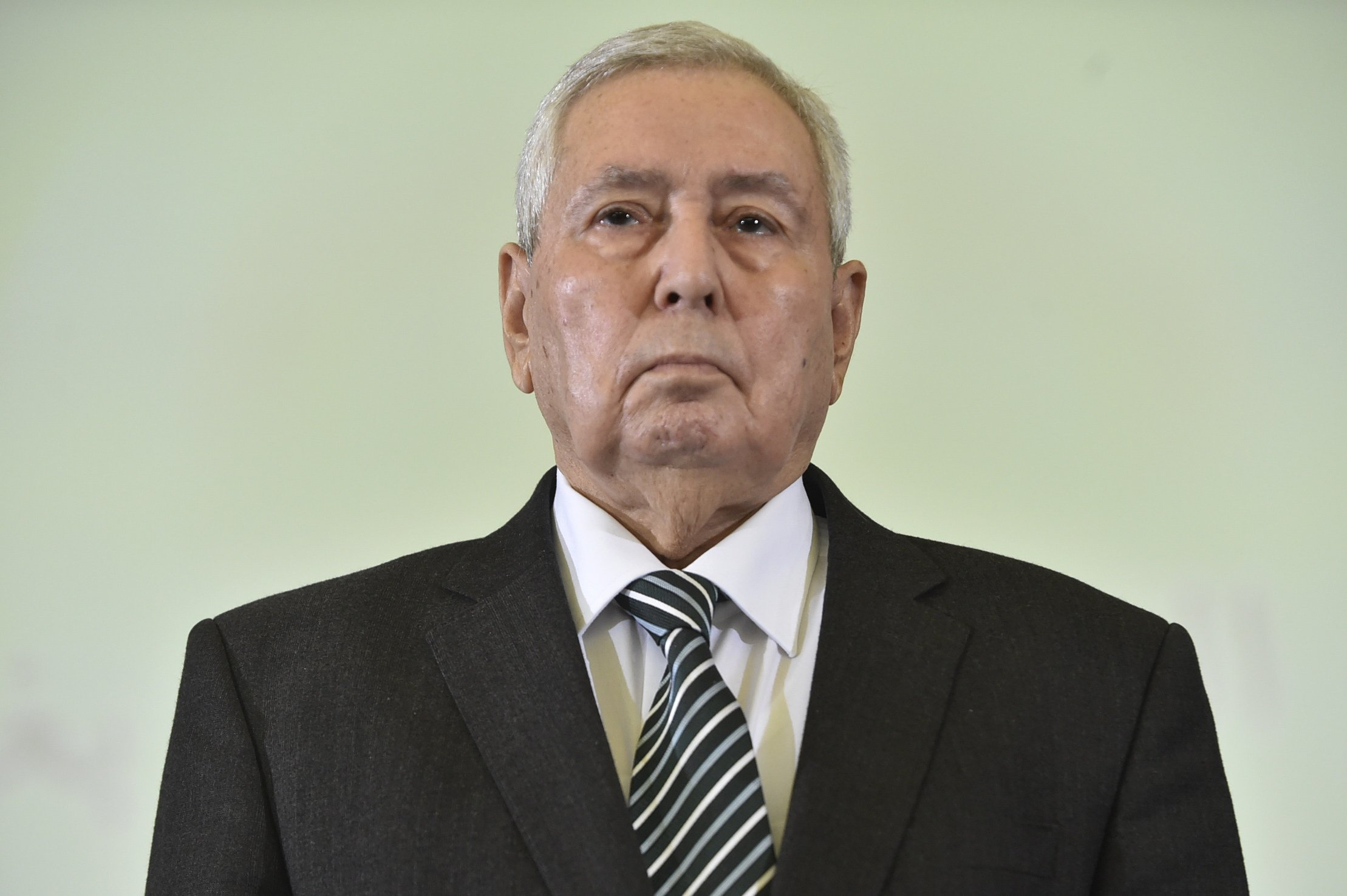 Abdelkader Bensalah has headed the Algerian senate for some 17 years (AFP)