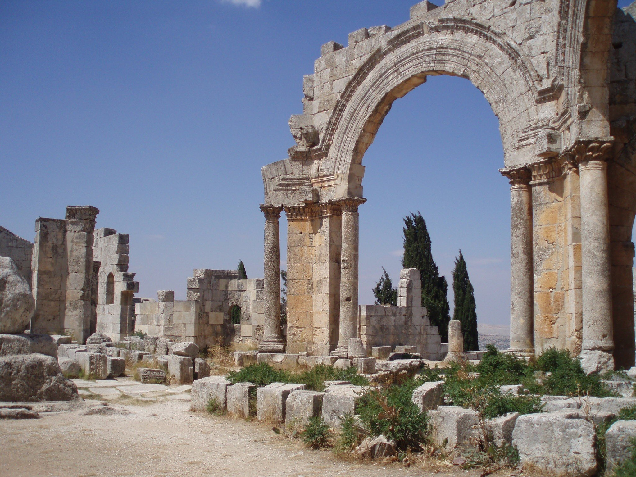 St Simeon's Basilica in Idlib in 2010 (Diana Darke)