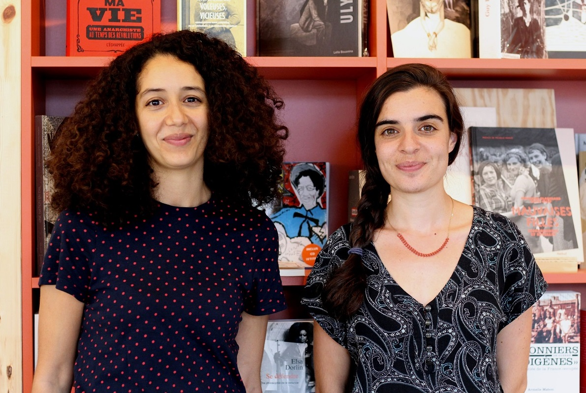 Elsa Piacentino and Halima M'Birik, co-founders of the new bookstore El Ghorba mon amour (MEE / Nadia Bouchenni)