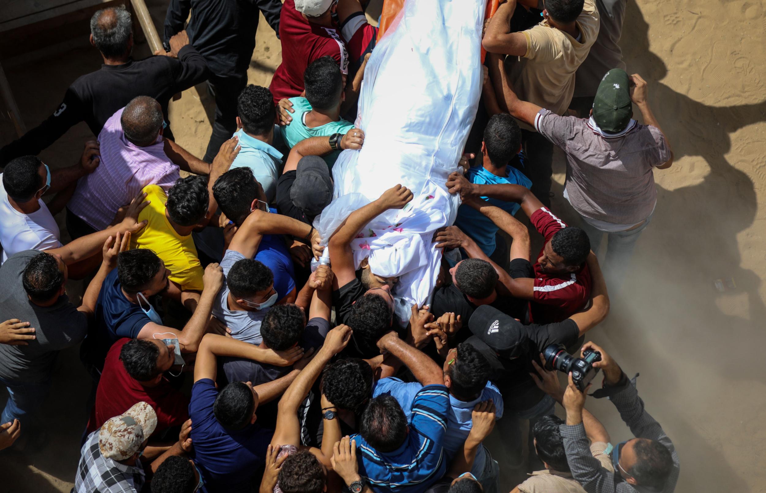 Funeral of Gaza fisherman