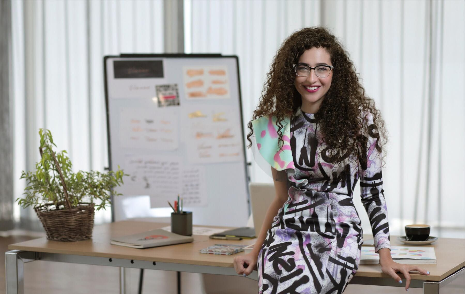 Ghada Wali, an award-winning Egyptian graphic designer who has created an Arabic learning tool