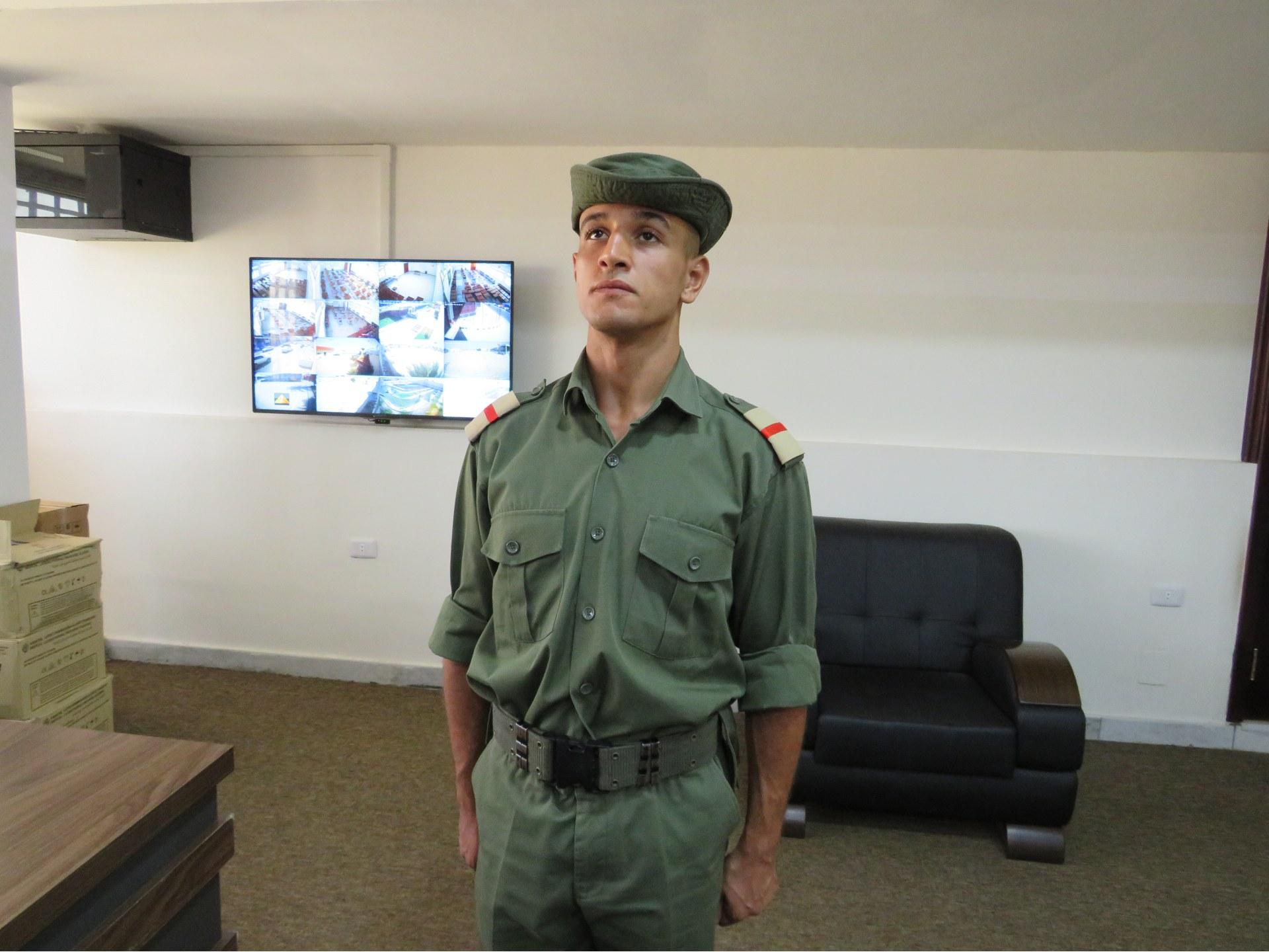 Abdel Moeen Yehia Kawan, pitomac vojne akademije u Tripoliju (MEE / Daniel Hilton)