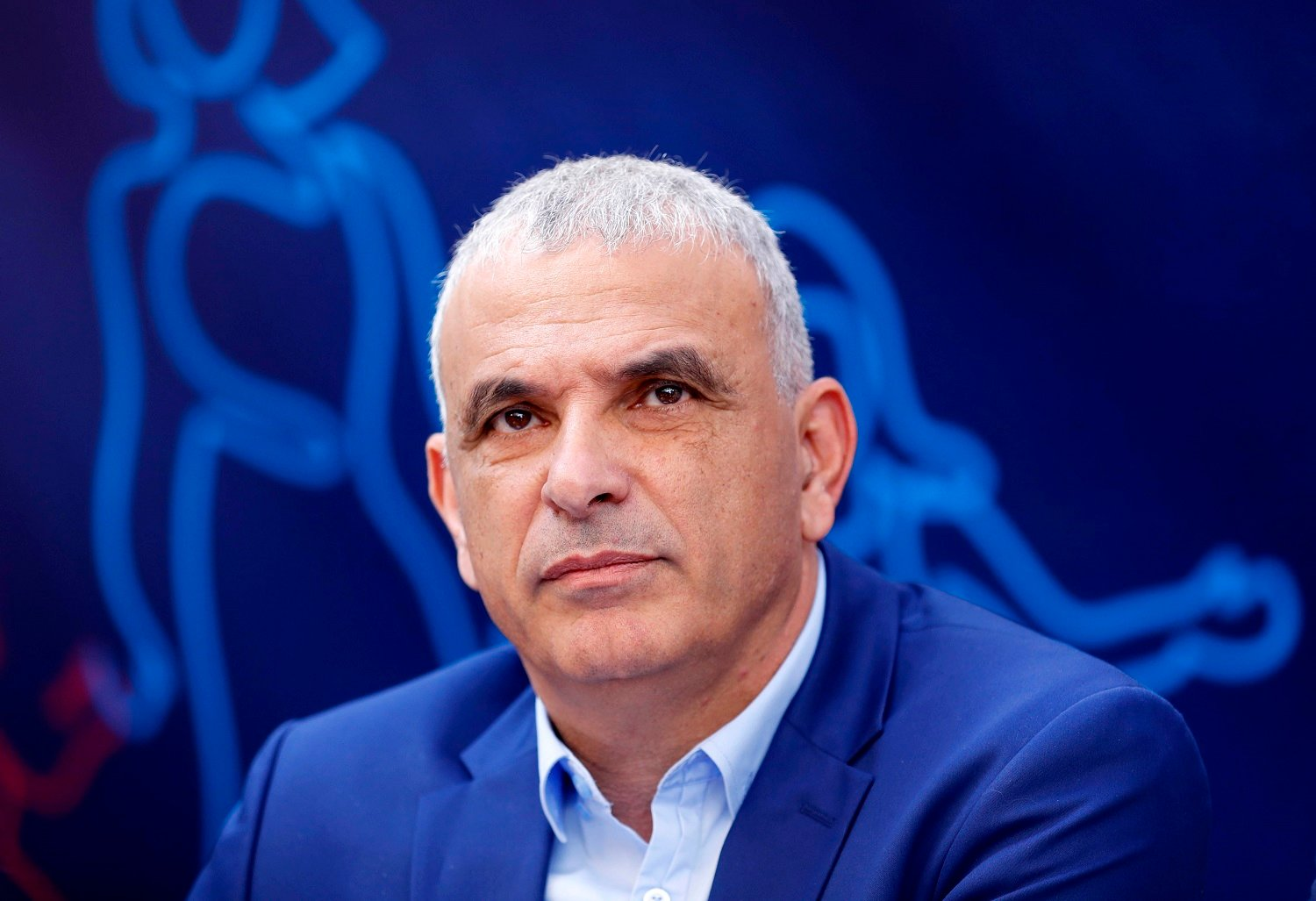 Moshe Kahlon gives a press conference in Tel Aviv in February 2019 (AFP)