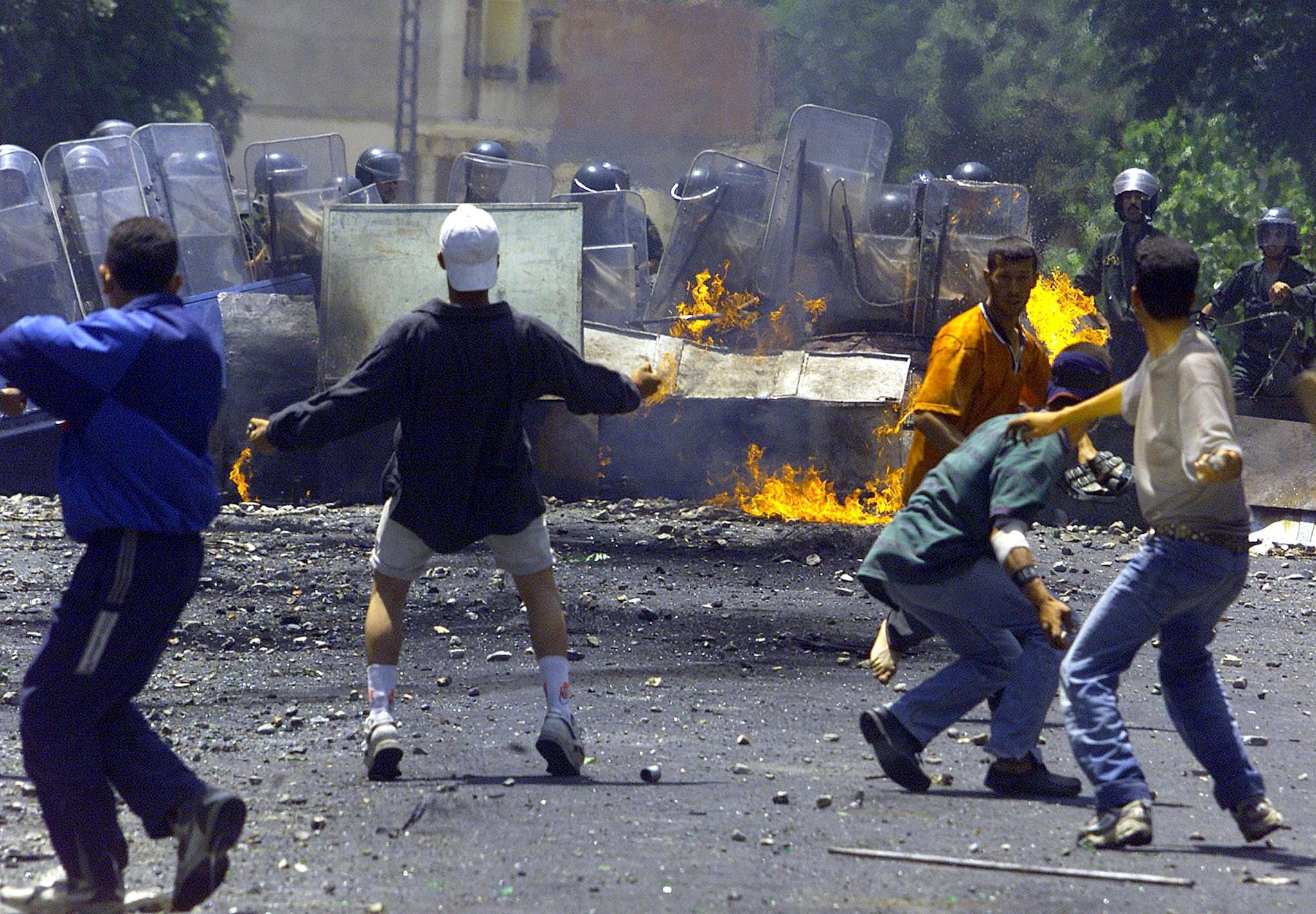"Violently repressed protests against corruption and poverty in Algeria's majority-Berber Kabylie region in 2001 became known as the ""Black spring"" (AFP)"