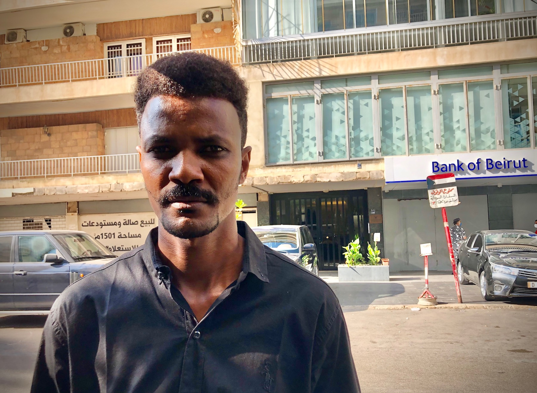 Sudanese migrant in Beirut