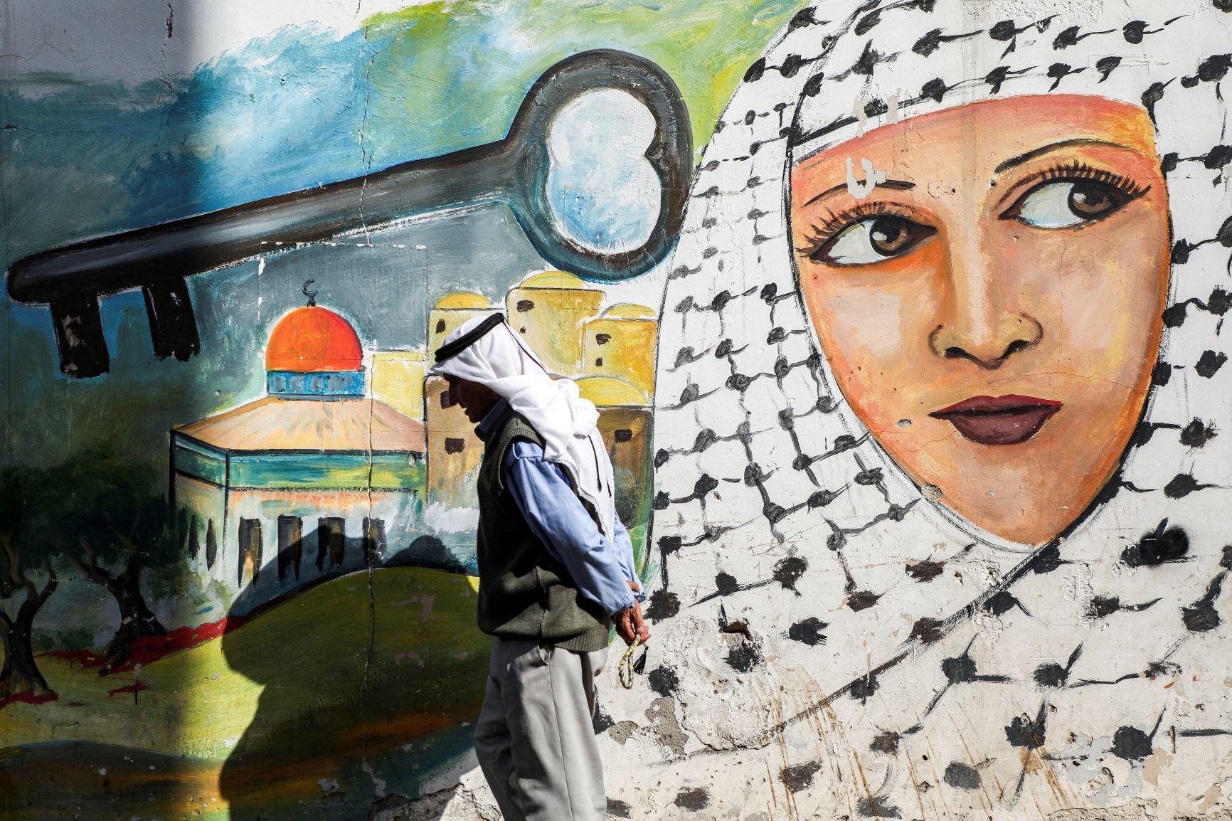 Keffiyeh Mural