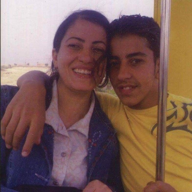 Mary and her brother Mina Danial, who was killed by Egyptian army forces in Egypt in 2011 (Facebook)