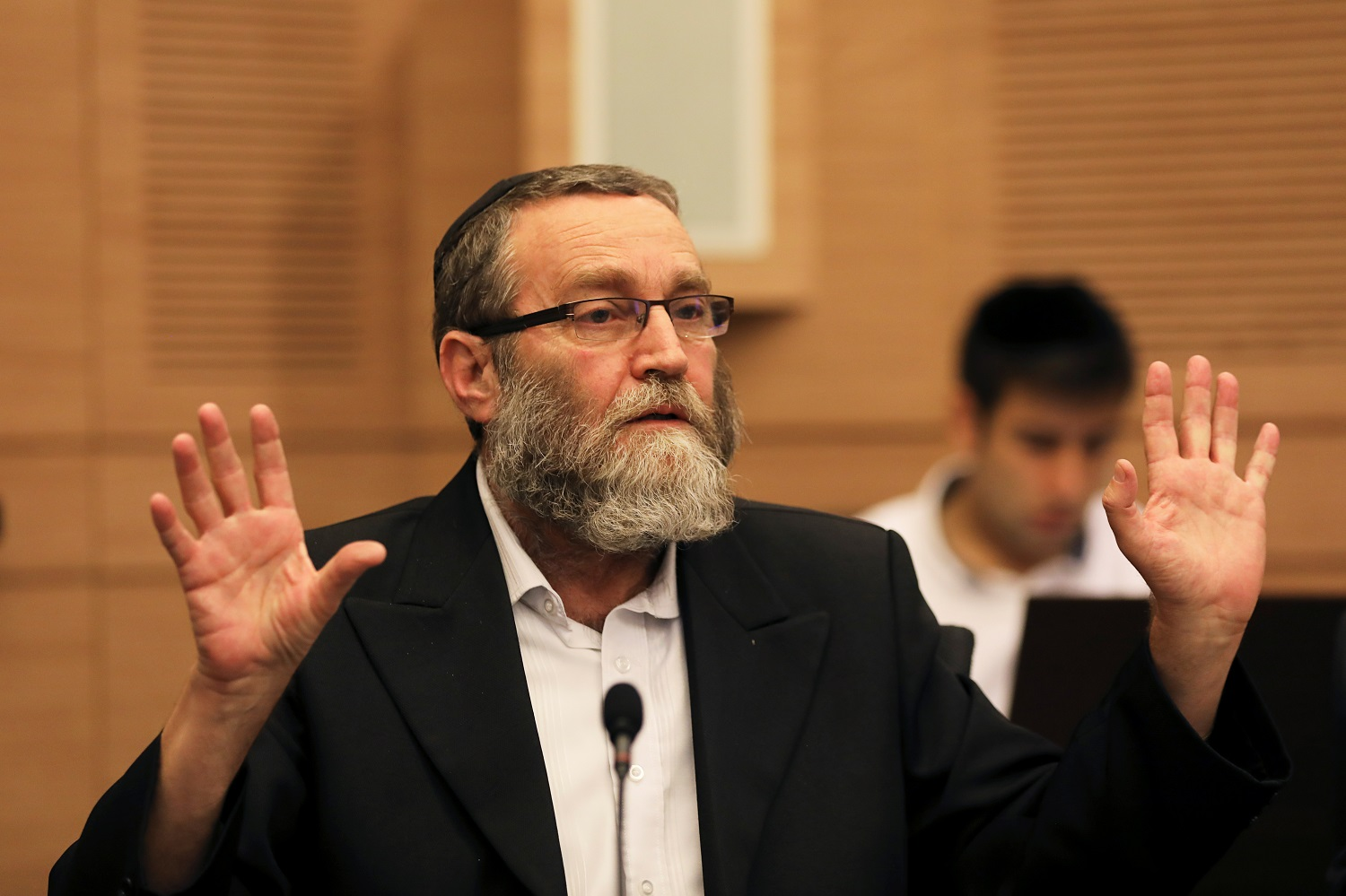 Moshe Gafni, pictured here in 2017, has been a member of the Knesset for more than 30 years (Reuters)