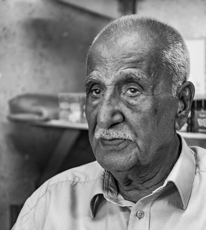 Saeed Dandan, fled his village Tiret Dandan in 1948. He spoke of his memories of the Nakba in 2019 in Balata refugee camp (MEE/Skip Schiel)