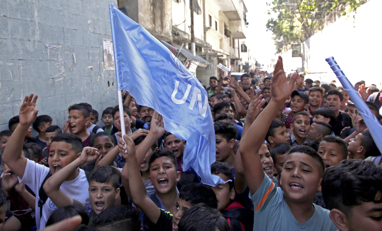 Manifestations d'étudiants palestiniens de l'UNRWA