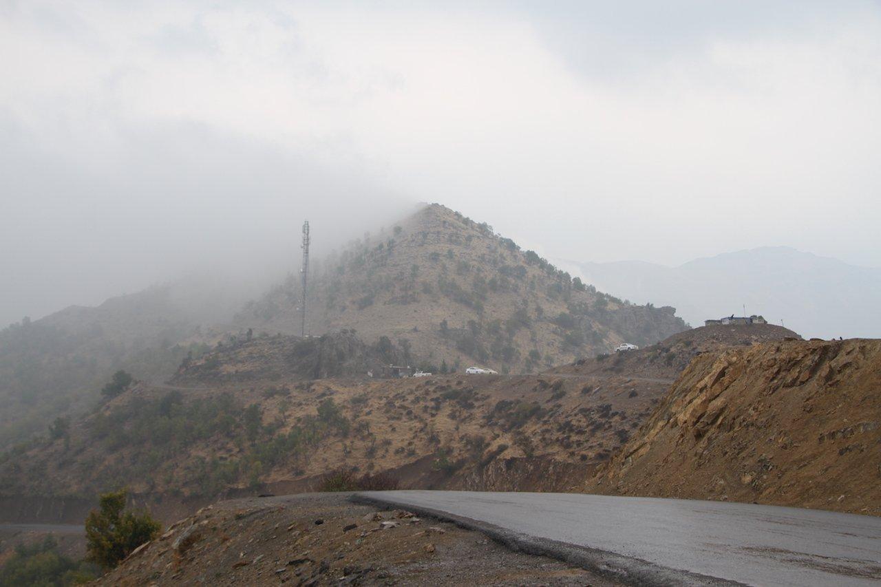 The Zini Warte Peshmerga base in the Qandil mountains (MEE/Sylvain Mercadier)