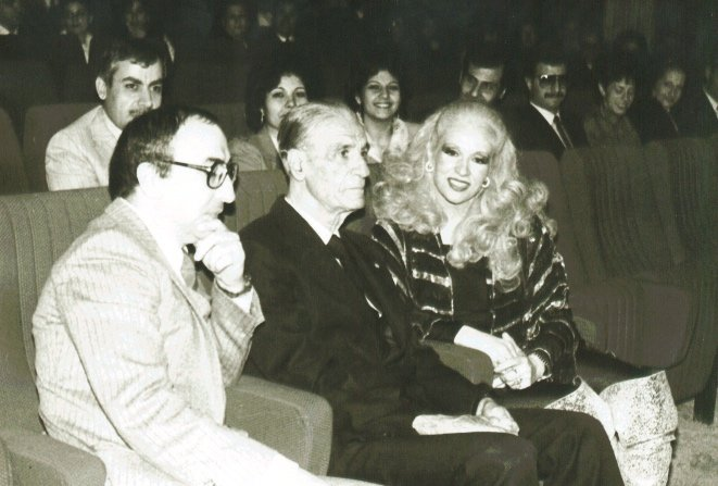 Elias Rahbani (furthest left) with Pierre Gemayel and Sabah (Courtesy of Jad Rahbani)