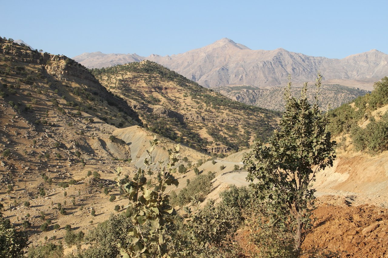 A general view of the Qandil mountains in northern Iraq (MEE/Sylvain Mercadier)