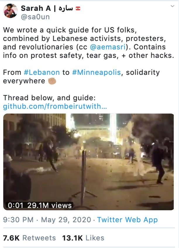 US Lebanon protests