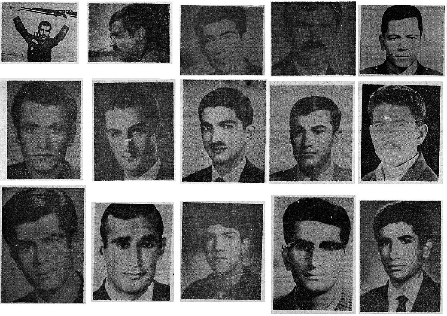 Mugshots of the young men accused of involvement with the Siahkal incident were widely published in Iranian newspapers (Wikicommons)