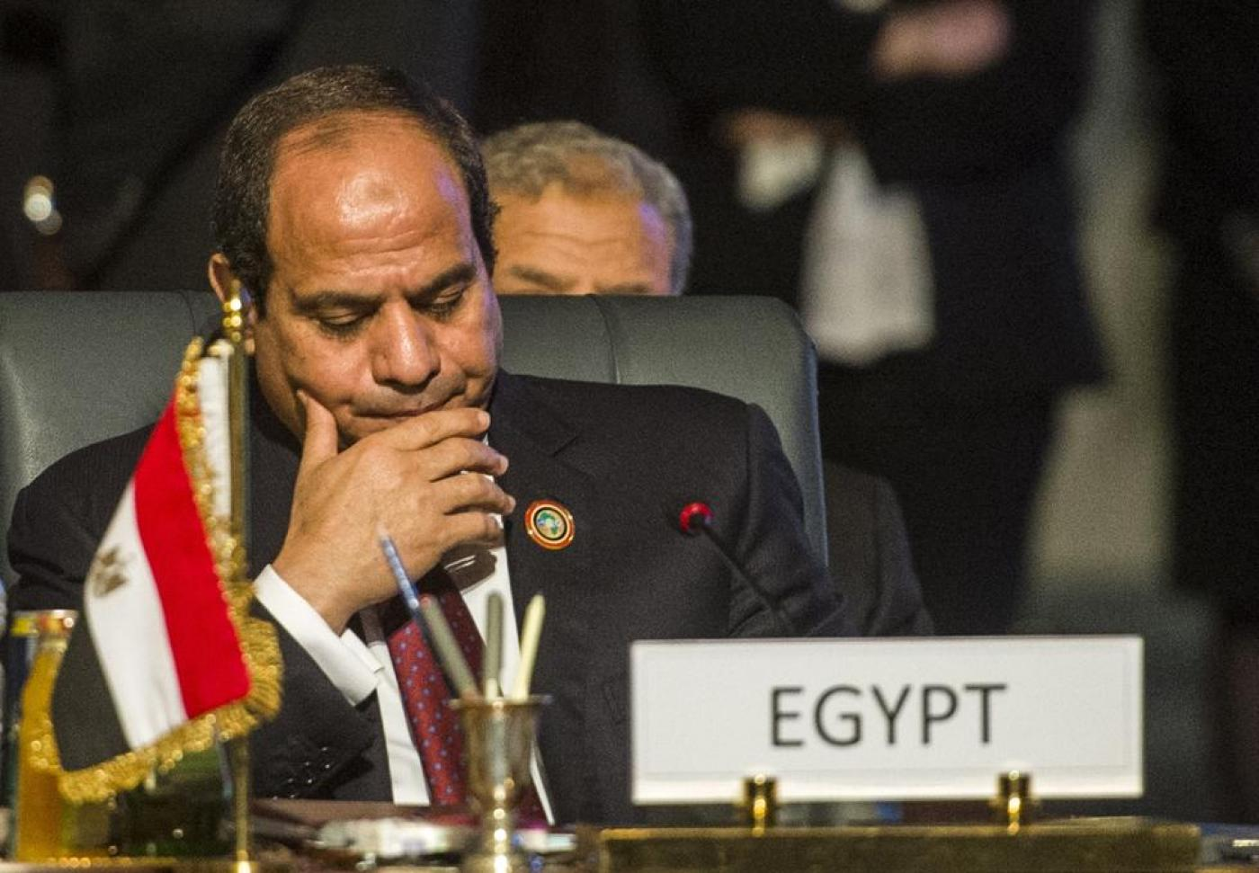 Egypt's President Abdel Fattah al-Sisi attends the closing session of an African summit meeting (AFP)