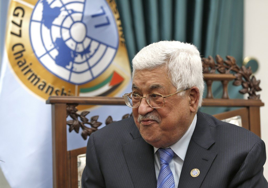 PA leader Mahmoud Abbas is pictured in Ramallah on 29 January (AFP)