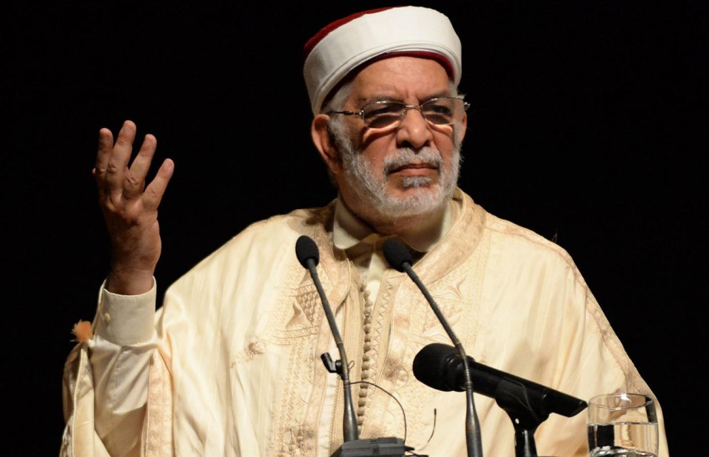 Abdelffatah Mourou, candidat du parti Ennahdha à l'élection présidentielle anticipée du 15 septembre (AFP)