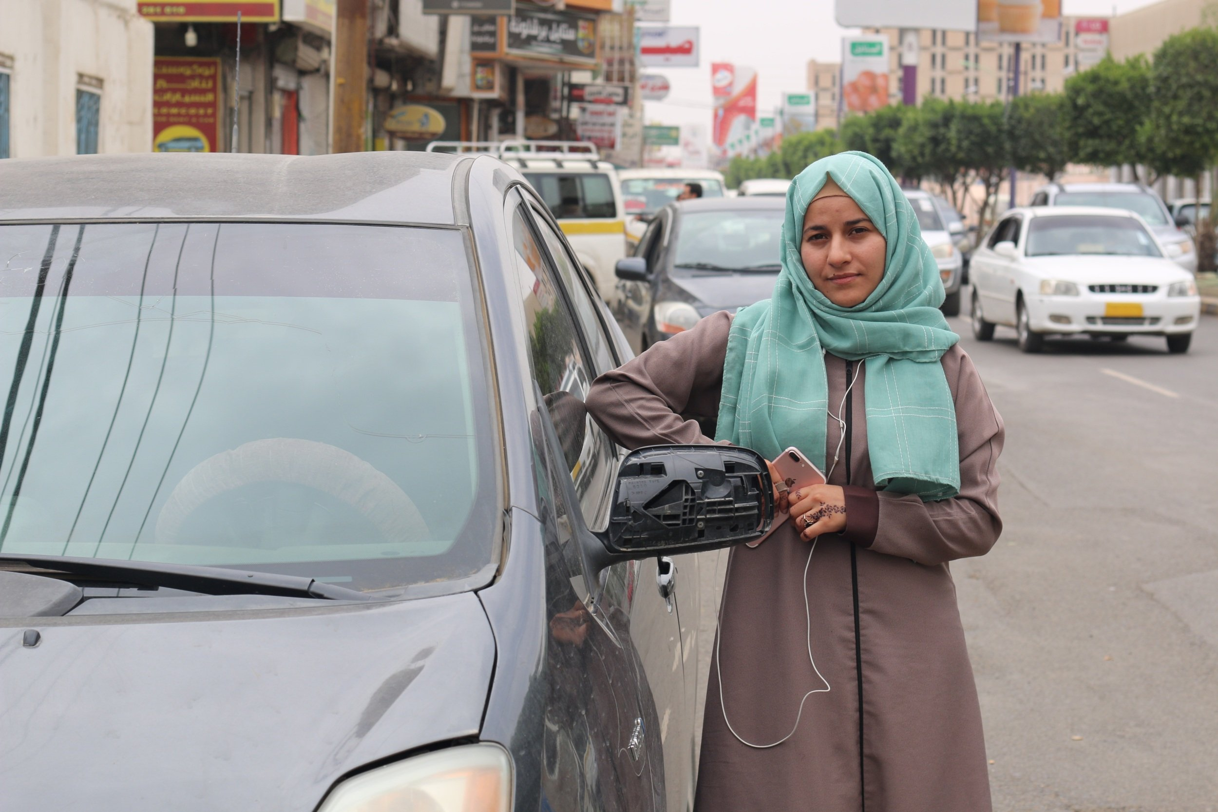 """""""Some members of the family encouraged me to drive and others criticised me,"""" says Abeer Bareda (MEE)"""