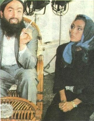 Adnan Oktar, photographed with actor Ahu Tugba in 1989 (Savas Kalafat)