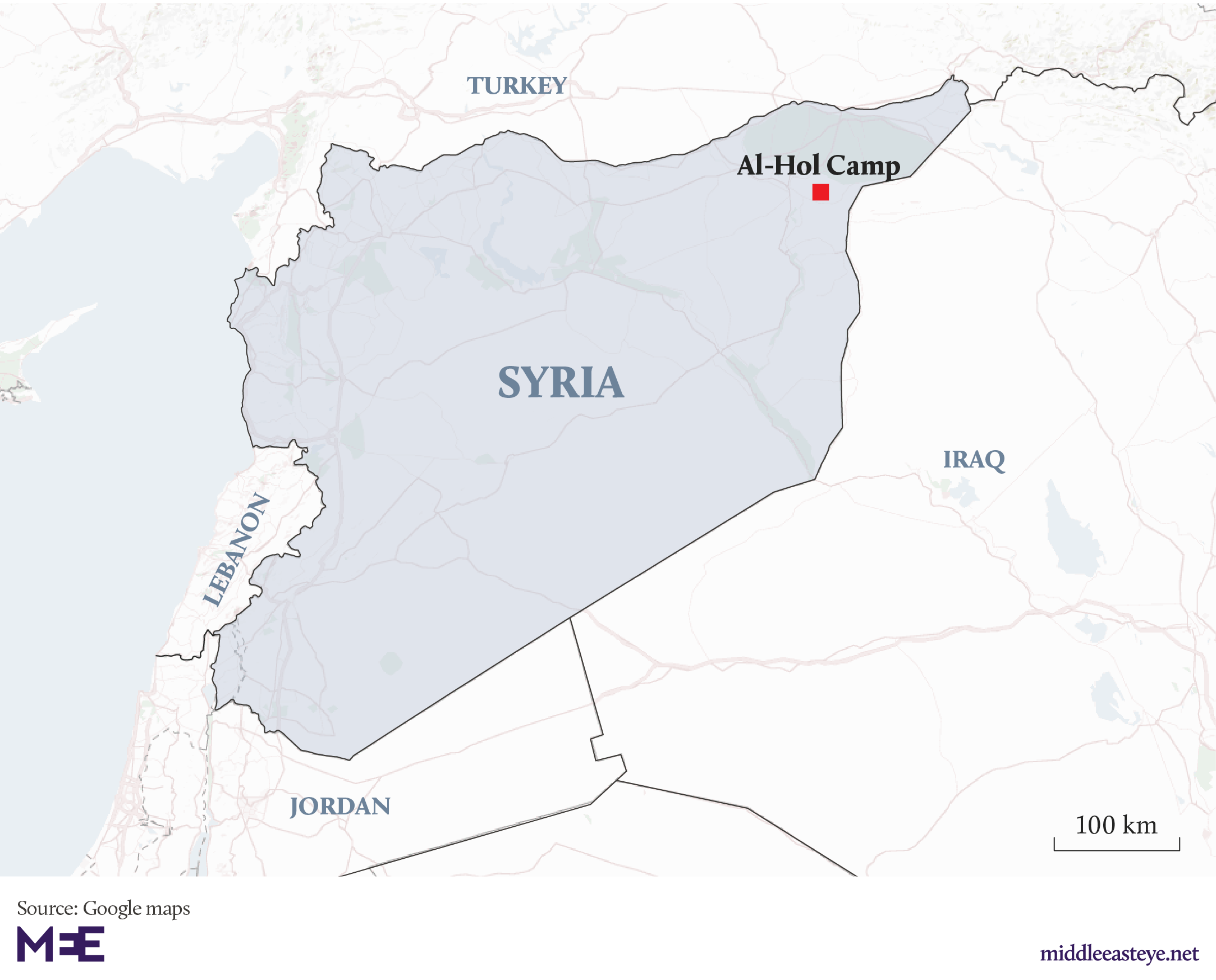Al Hol Map