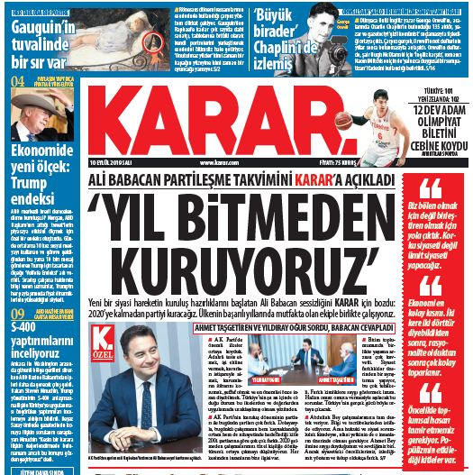 Babacan interview Karar daily