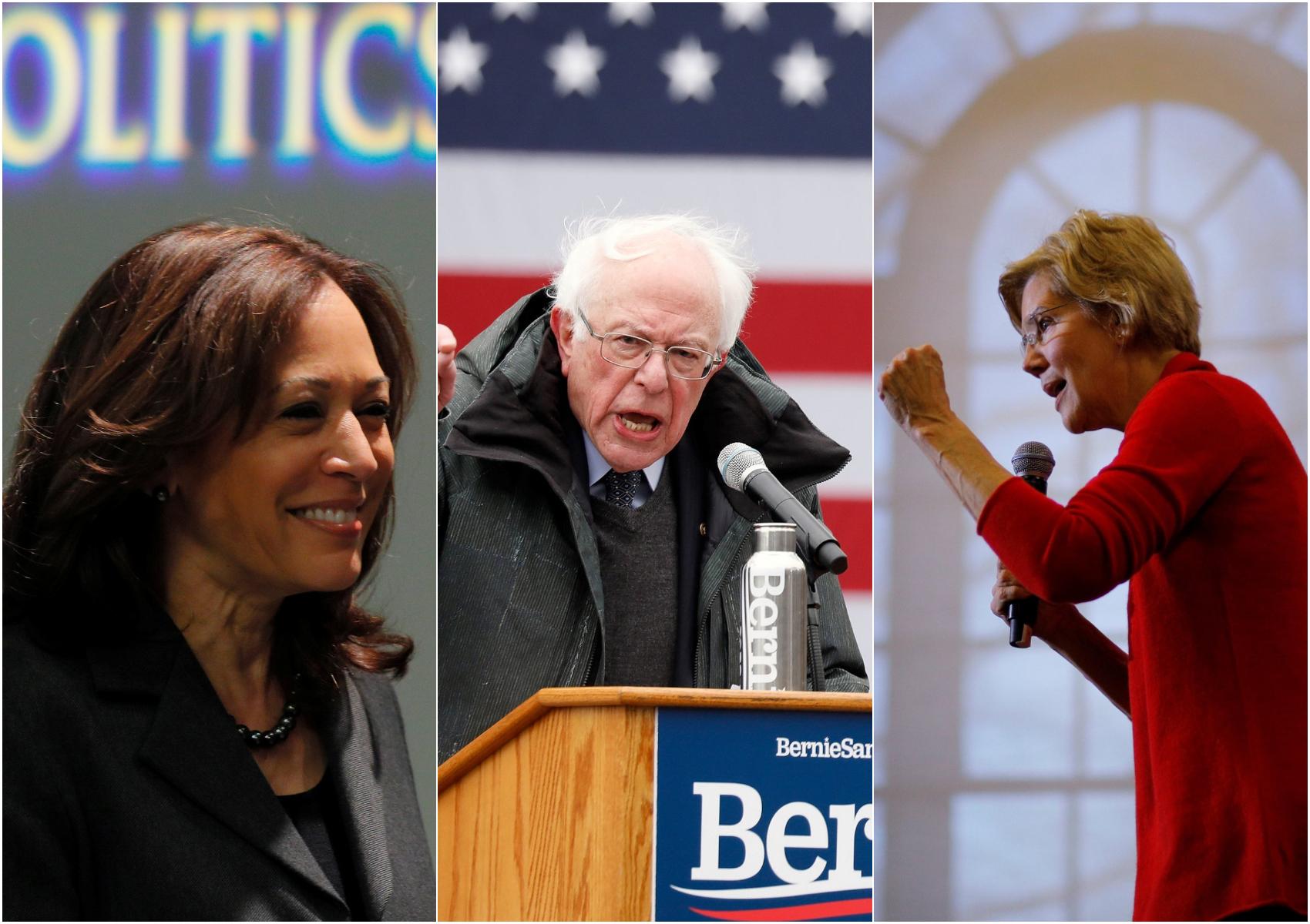 Kamala Harris Bernie Sanders and Elizabeth Warren defended Ilhan Omar