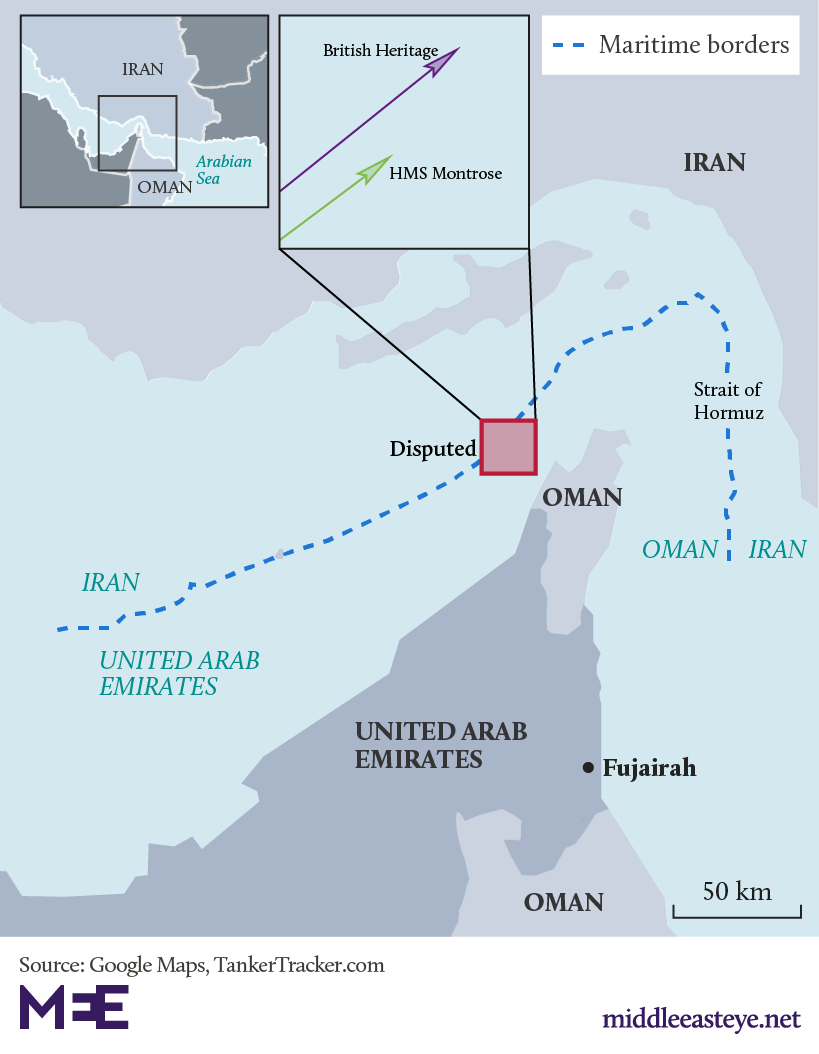 Oil Tanker British Heritage and Iranian interception