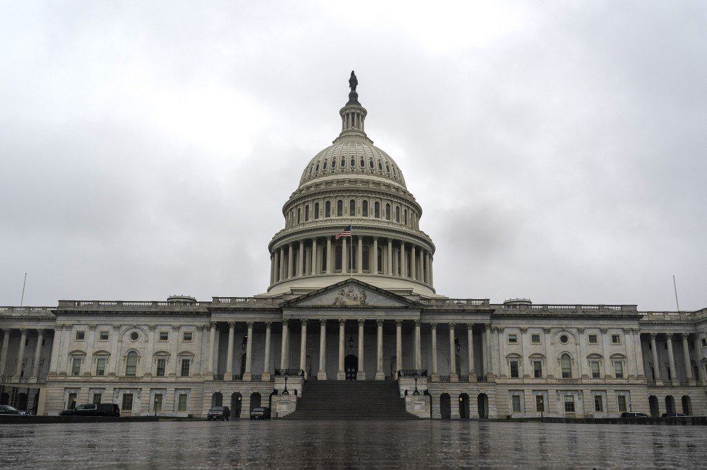 The US Capitol Building in Washington is pictured on 25 March (AFP)