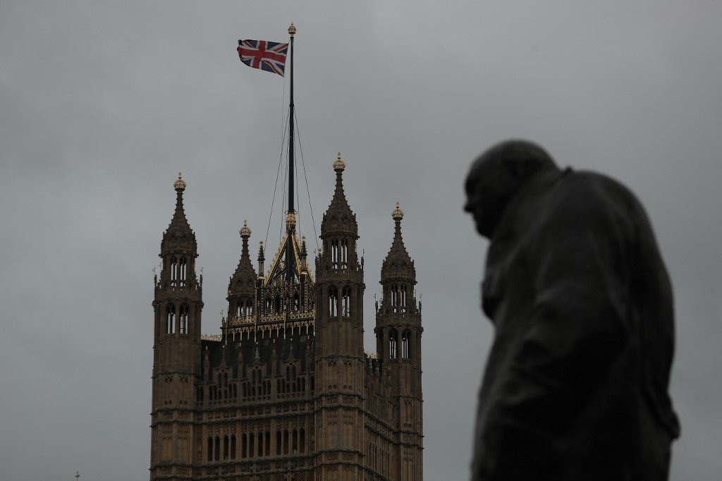 A statue of former Prime Minister Winston Churchill stands in London on 26 January (AFP)