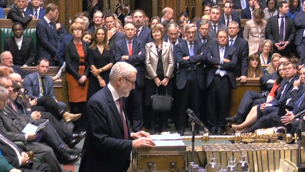 Corbyn speaks in the House of Commons on 17 December (AFP/PRU)