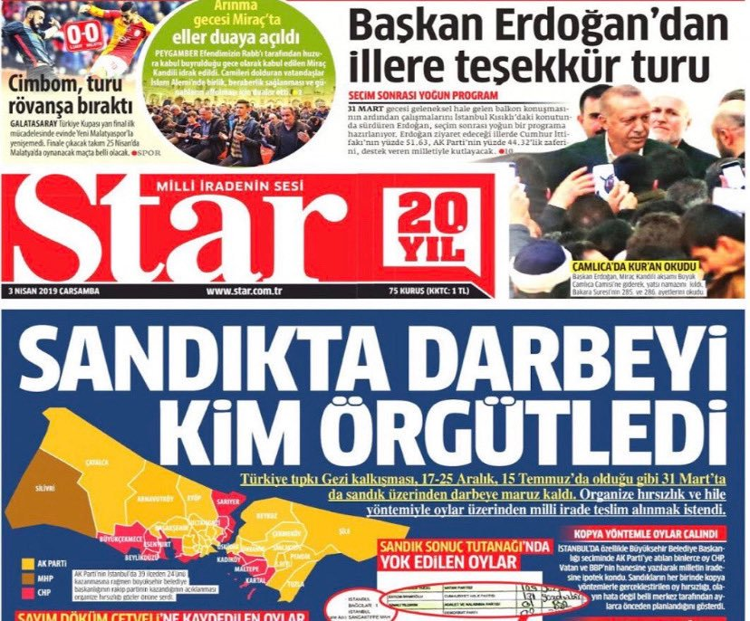 "Front page of newspaper Star reads ""Who organised the ballot box coup?"""
